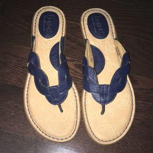 Never Worn!! BOC by Born Navy Flip Flop Sandals!
